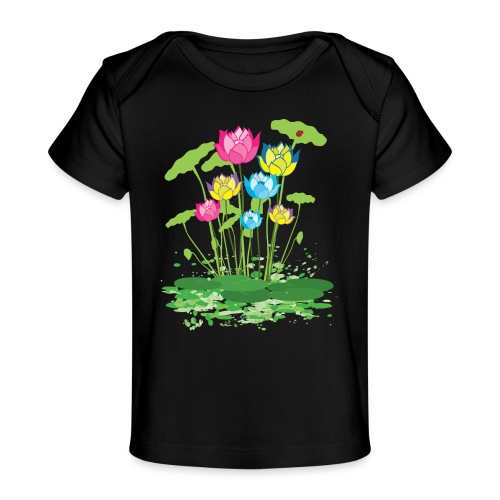 colorful waterlilies flowers - Baby Organic T-Shirt