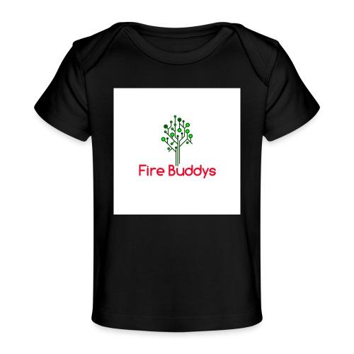 Fire Buddys Website Logo White Tee-shirt eco - Baby Organic T-Shirt