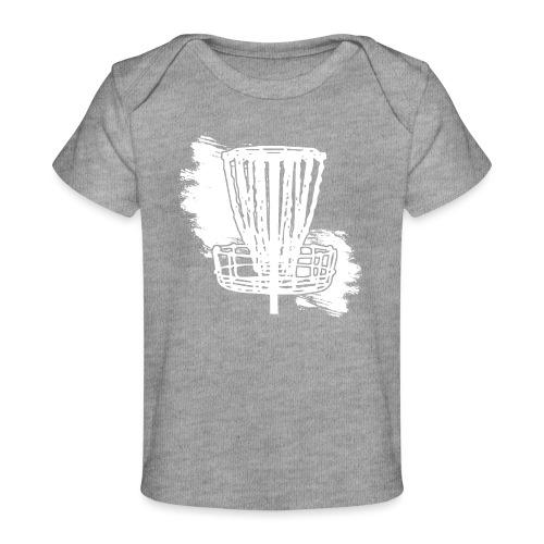 Disc Golf Basket White Print - Baby Organic T-Shirt