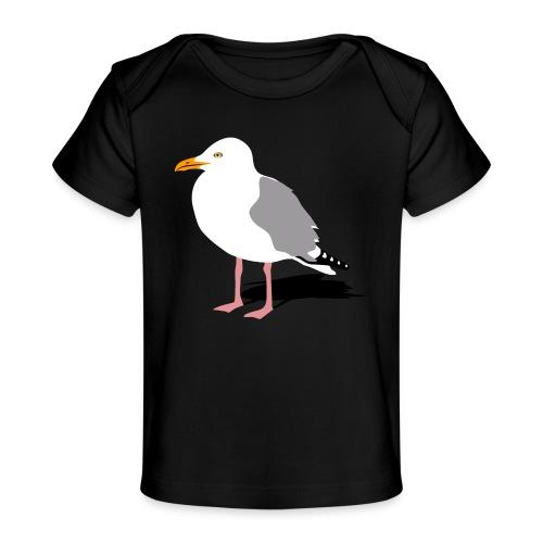 sea gull seagull harbour bird beach sailing - Baby Organic T-Shirt