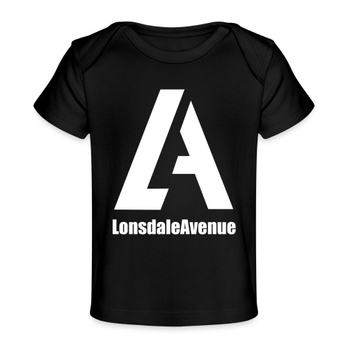 Lonsdale Avenue Logo White Text - Baby Organic T-Shirt