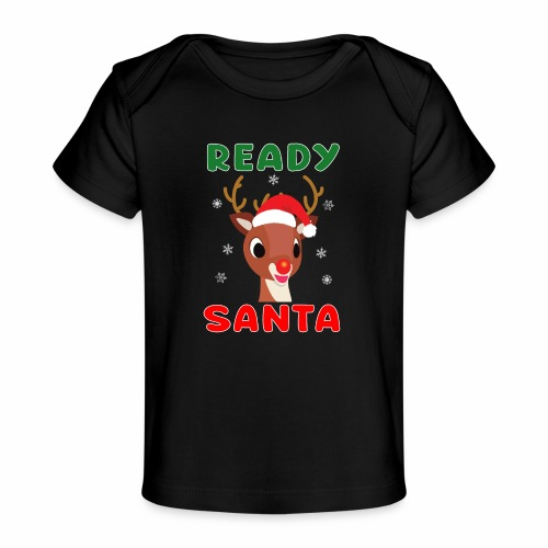 Rudolph Red Nose Reindeer Christmas Snowflakes. - Baby Organic T-Shirt