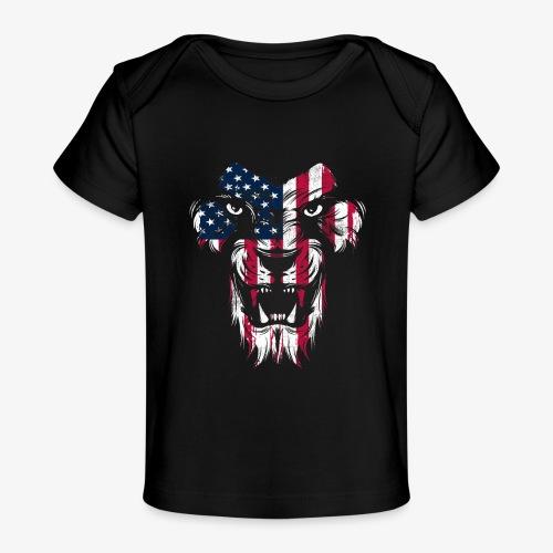 American Flag Lion - Baby Organic T-Shirt