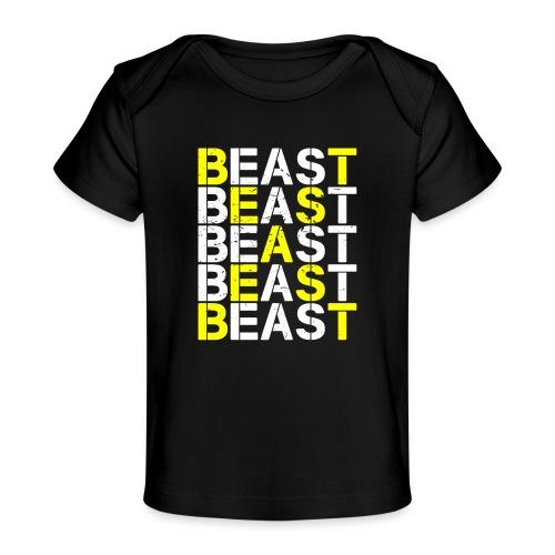 All Beast Bold distressed logo - Baby Organic T-Shirt