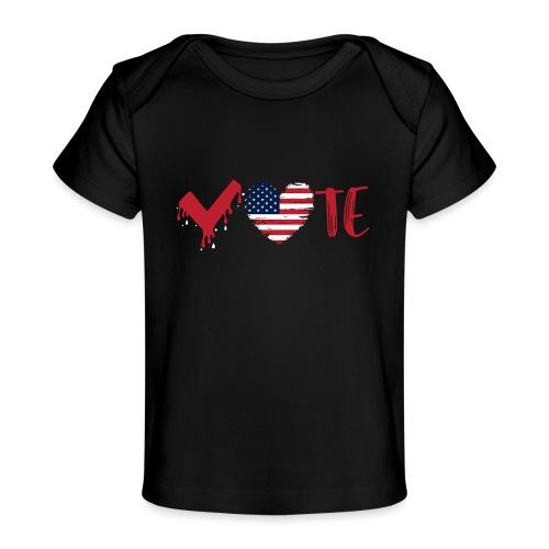 vote heart red - Baby Organic T-Shirt
