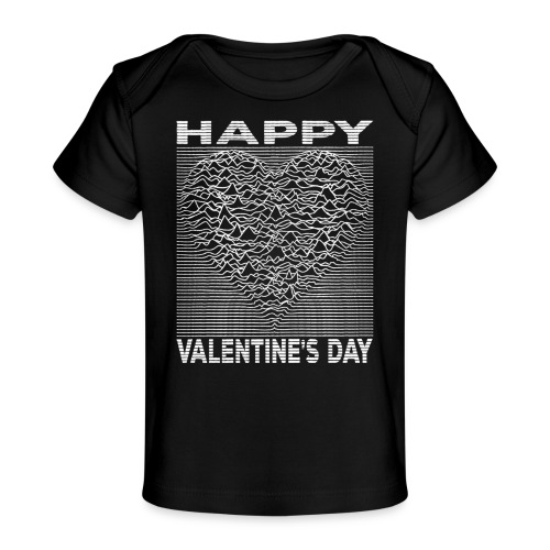 Love Lines Happy Valentines Day Heart - Baby Organic T-Shirt