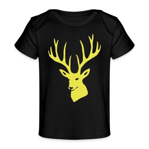 stag night deer buck antler hart cervine elk - Baby Organic T-Shirt