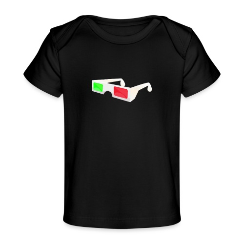 3D red green glasses - Baby Organic T-Shirt