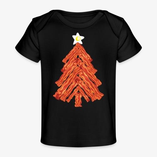 Funny Bacon and Egg Christmas Tree - Baby Organic T-Shirt