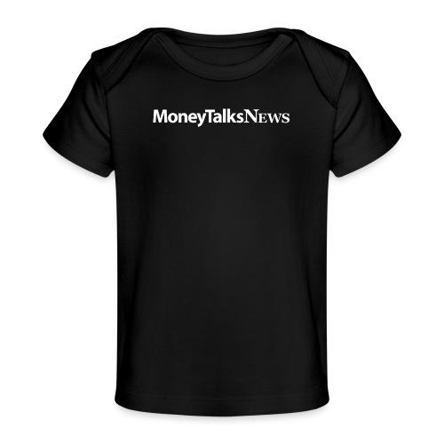 Money Talks News Logo - White - Baby Organic T-Shirt