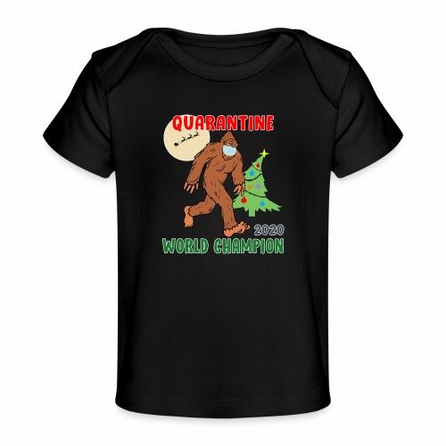Quarantine World Champion Sasquatch Mask Christmas - Baby Organic T-Shirt