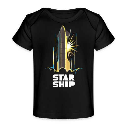 Star Ship Earth - Dark - Baby Organic T-Shirt