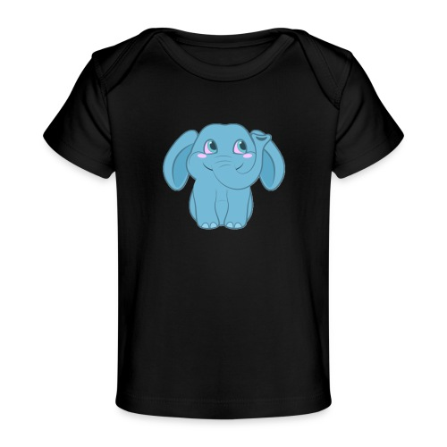 Baby Elephant Happy and Smiling - Baby Organic T-Shirt