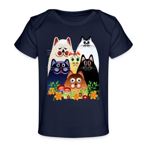 GARDEN CLOWDER of CATS - Baby Organic T-Shirt