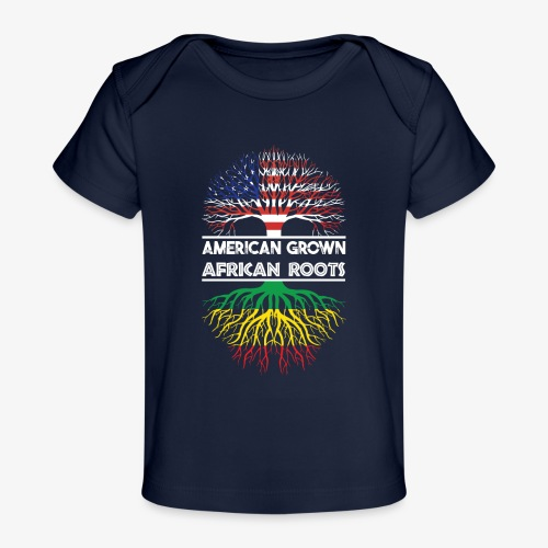 American Grown With African Roots T-Shirt - Baby Organic T-Shirt