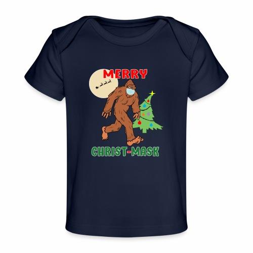 Merry Christmask Sasquatch Mask Social Distance. - Baby Organic T-Shirt