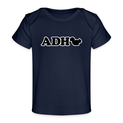 Funny ADHD Squirrel - Baby Organic T-Shirt