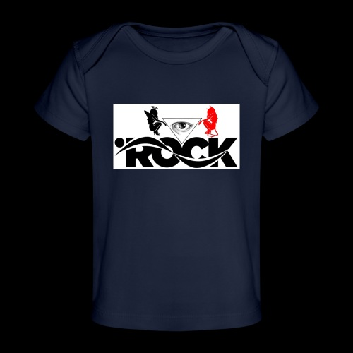 Eye Rock Devil Design - Baby Organic T-Shirt