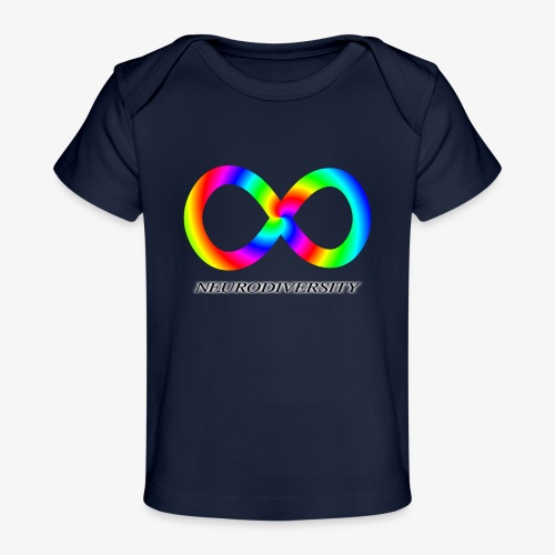 Neurodiversity with Rainbow swirl - Baby Organic T-Shirt