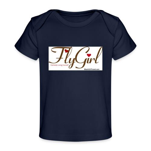 FlyGirlTextGray jpg - Baby Organic T-Shirt