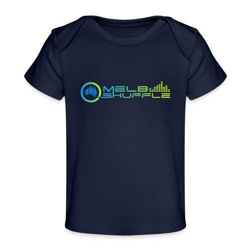 Melbshuffle Gradient Logo - Baby Organic T-Shirt