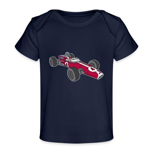 Red racing car, racecar, sportscar - Baby Organic T-Shirt