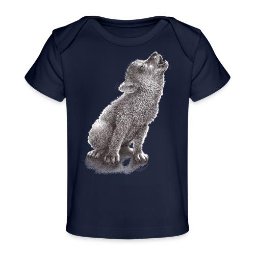 Little Howling Wolf - Baby Organic T-Shirt