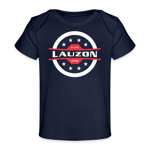 White on Black Lauzon MMA Logo w No Words - Baby Organic T-Shirt