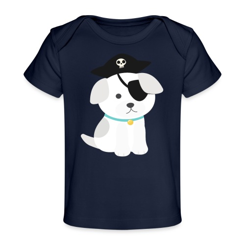 Dog with a pirate eye patch doing Vision Therapy! - Baby Organic T-Shirt