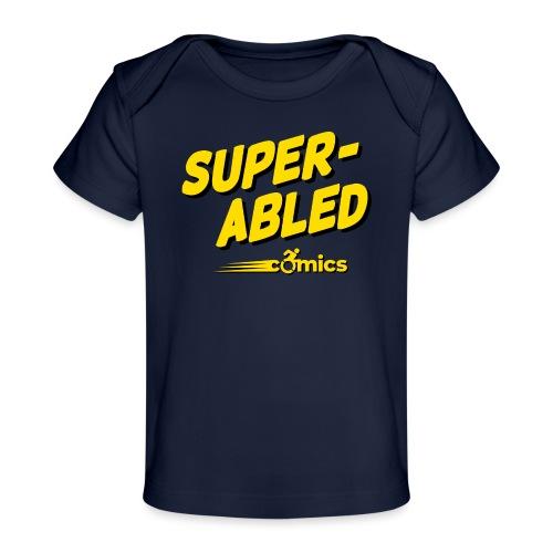 Super-Abled Comics - yellow/black - Baby Organic T-Shirt