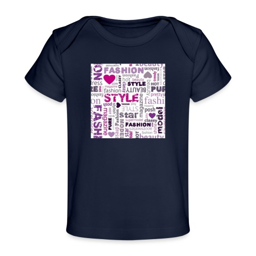 fashion word collage - Baby Organic T-Shirt