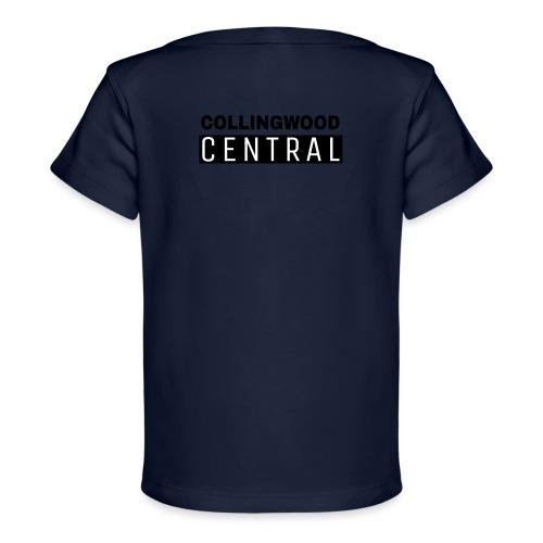 BLK Collingwood Central Logo - Baby Organic T-Shirt