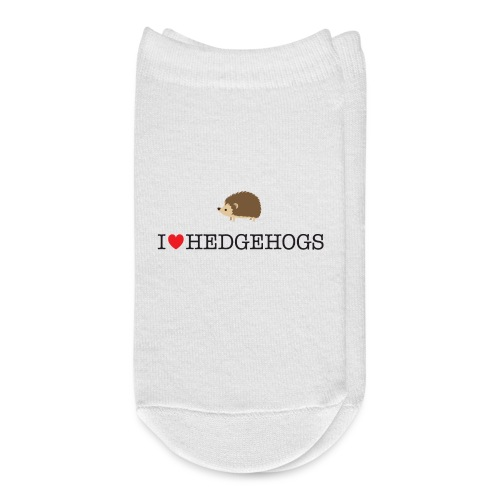 I Love hedgehogs with Cute Hedgehog Illustration - Ankle Socks
