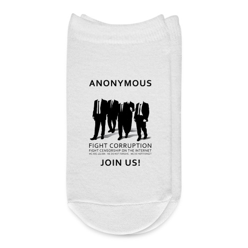 Anonymous 3 - Black - Ankle Socks