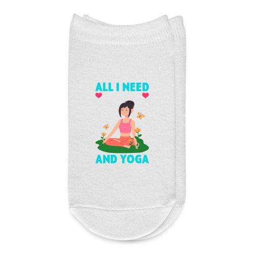 All I Need is Love And Yoga And a Dog - Ankle Socks