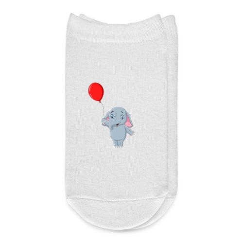 Baby Elephant Holding A Balloon - Ankle Socks