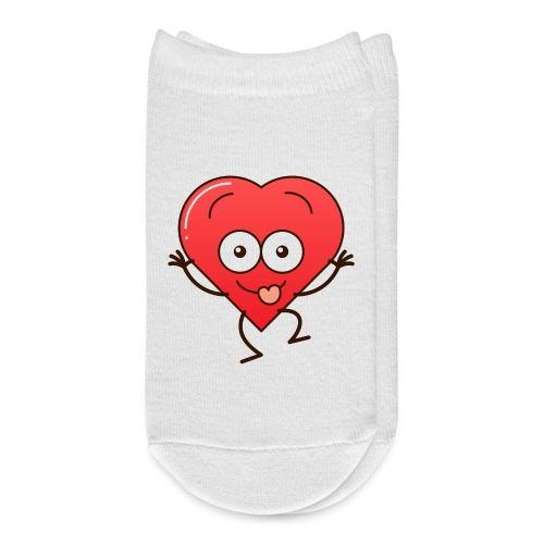 Mischievous red heart making funny faces - Ankle Socks