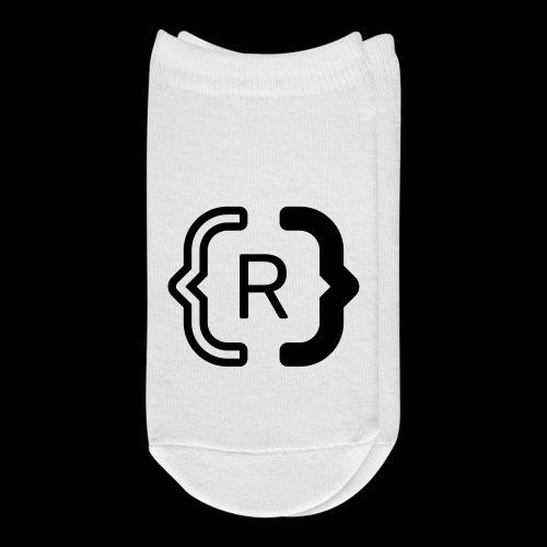 square black reswitched R logo bmx3r - Ankle Socks