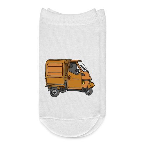 Orange tricycle transporter, old three-wheeled van - Ankle Socks
