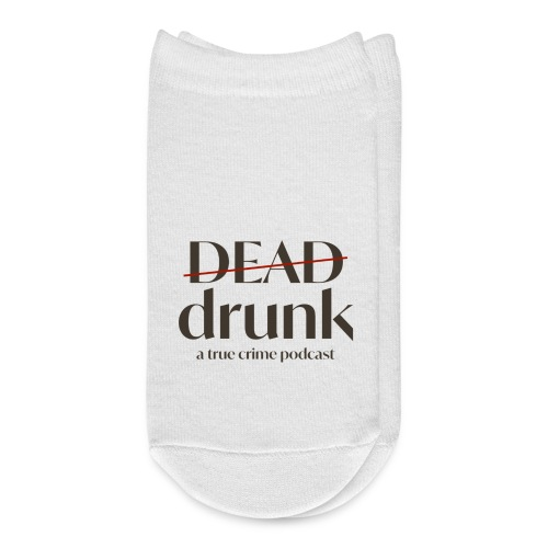 bigger dead drunk logo! - Ankle Socks