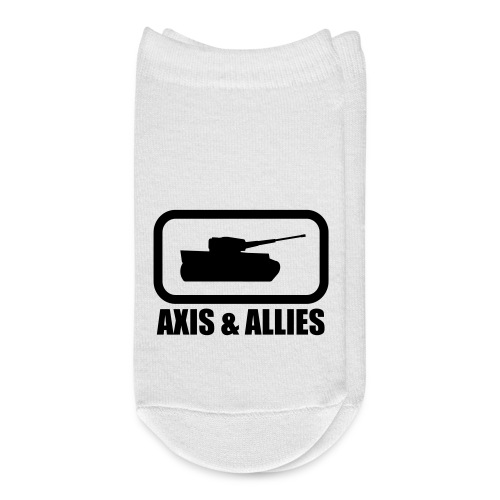 Tank Logo with Axis & Allies text - Multi-color - Ankle Socks