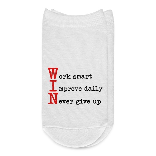 WIN - Work Smart Improve Daily Never Give Up - Ankle Socks