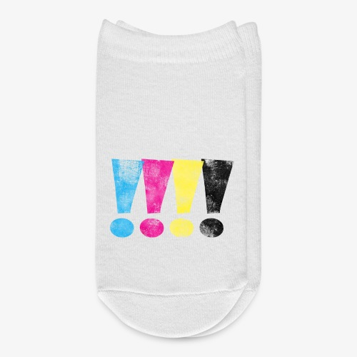 Distressed CMYK Exclamation Points - Ankle Socks