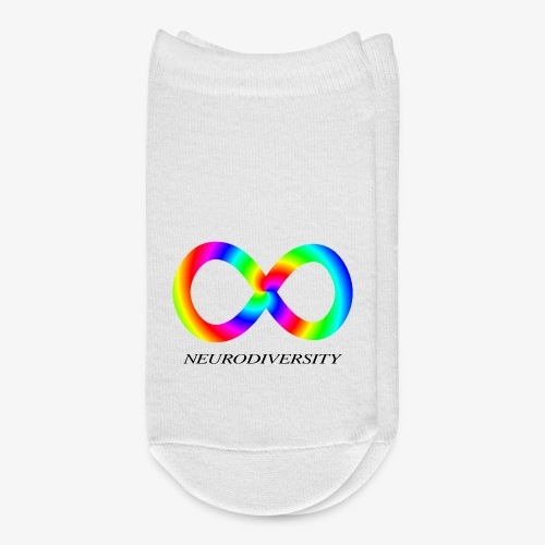Neurodiversity with Rainbow swirl - Ankle Socks