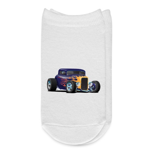 Vintage Hot Rod Car with Classic Flames - Ankle Socks