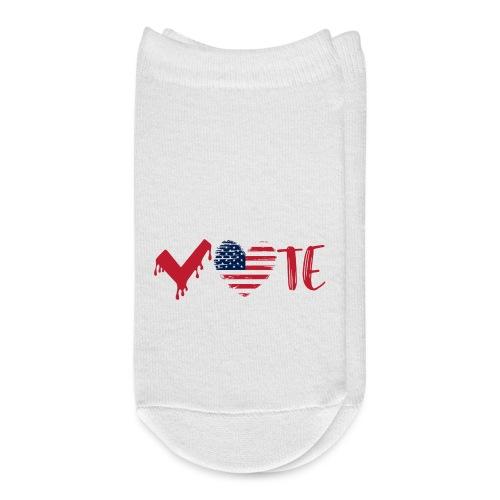 vote heart red - Ankle Socks