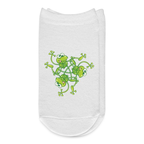 Frogs having fun when rotating in a pattern design - Ankle Socks