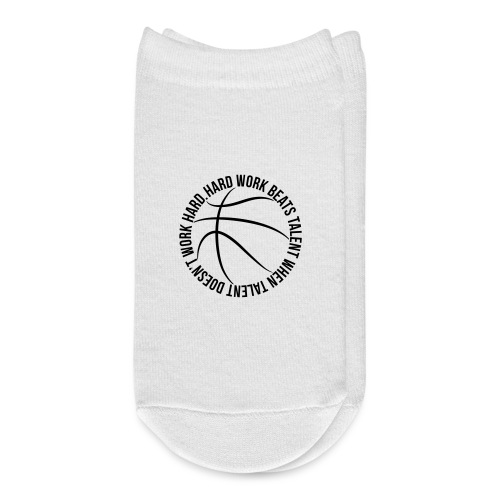 Hard Work Beats Talent Basketball - Ankle Socks