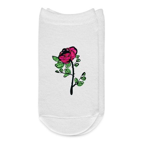 watercolor rose - Ankle Socks
