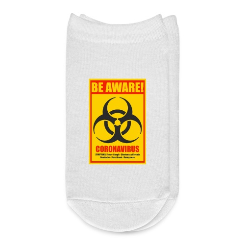 Be aware! Coronavirus biohazard warning sign - Ankle Socks